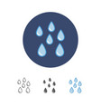 water drops icon vector image vector image