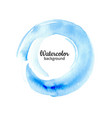 watercolor blue abstract hand painted background vector image vector image