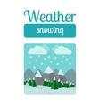 Weather snowing vector image vector image