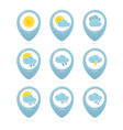 Weather web elements vector image vector image