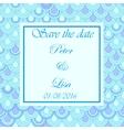 Wedding invitation flake pattern blue vector image