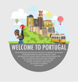 Welcome to portugal travel tourism poster template