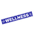 wellness scratched rectangle stamp seal with vector image vector image