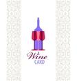 wine card icon logo menu cover vector image vector image
