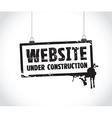 website paper sign vector image