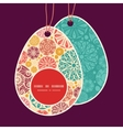 abstract decorative circles Easter egg vector image vector image