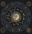 banner with signs zodiac and moon vector image