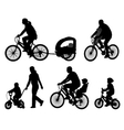 bicyclists vector image