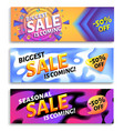 biggest sale is coming - horizontal advertising vector image