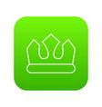 bronze crown icon green vector image vector image