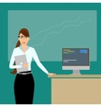 Business coach at lecture time wearing a smart vector image vector image
