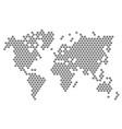 button dot world map vector image