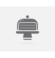 Cake in Glass Holder Serving Stand Element or Icon vector image