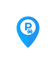 car parking location pin icon vector image vector image