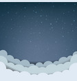 cartoon sky with stars and cloud vector image vector image
