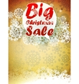 Christmas retro Big Sale with copy space vector image vector image