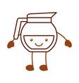coffee teapot kawaii character vector image vector image