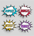 comic book expression text effect set four vector image