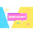 discount in design banner template for web vector image