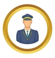 Driver of train icon vector image vector image