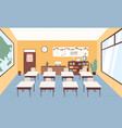 empty classroom at primary school graphic vector image