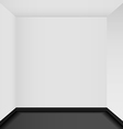 Empty corner in the room vector image