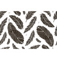 feather seamless pattern for your design vector image vector image