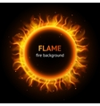 flame circle background vector image vector image