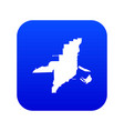 florida map icon digital blue vector image vector image