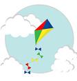 Flying kite vector image