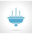 Fountain bowl glyph style icon vector image vector image