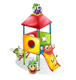 fruits and plaything vector image