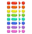 Funny cartoon colorful buttons vector image vector image