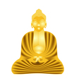Golden Buddha vector image vector image