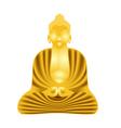 Golden Buddha vector image