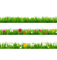 grass borders set vector image