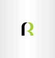 green black letter r icon sign logo logotype vector image vector image