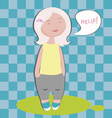 hello little blond vector image vector image