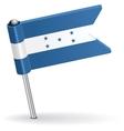 Honduras pin icon flag vector image