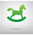Horse toy icon with shadow vector image