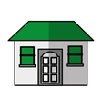 house exterior isolated icon vector image vector image