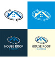 house roand moving company logo and icon 2 vector image vector image