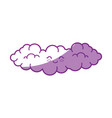 kawaii clouds icon vector image vector image