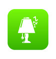 lamp icon green vector image vector image