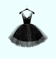 Little black dress Party dress vector image