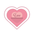 love heart message frame dots vector image vector image