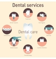 Medical infografics Dental services vector image vector image
