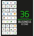 Mega collection of business icons vector image