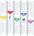 Modern Minimalistic Multicolor Infographic vector image vector image