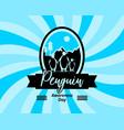 penguin awareness day vector image